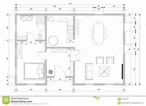 Plan De Maison D Architecte : plan d 39 architecte pour la construction de maison illustration stock illustration du ~ Melissatoandfro.com Idées de Décoration