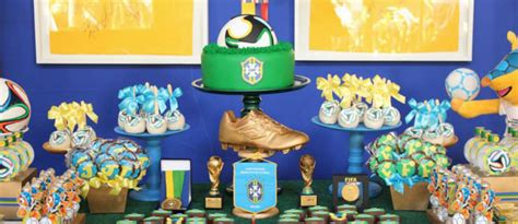 karas party ideas world cup soccer themed dessert table