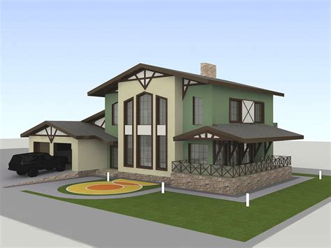 3d Small Bunglow Model Images