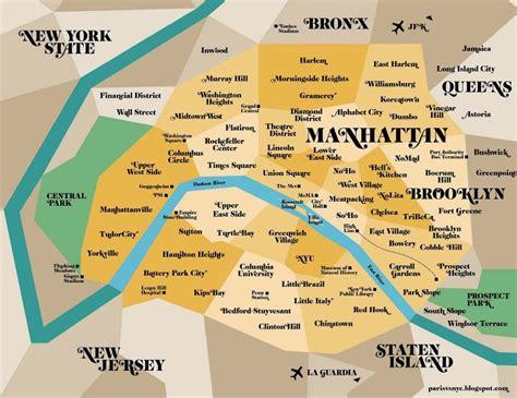 Top 9 Des Cartes Et Plans Insolites De New York City  Voyage Insolite