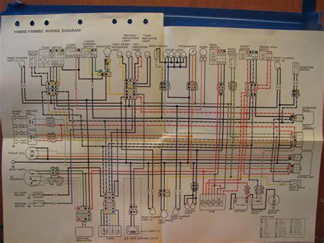 nos yamaha factory wiring diagram 1996 yx600 s yx600 sc ebay
