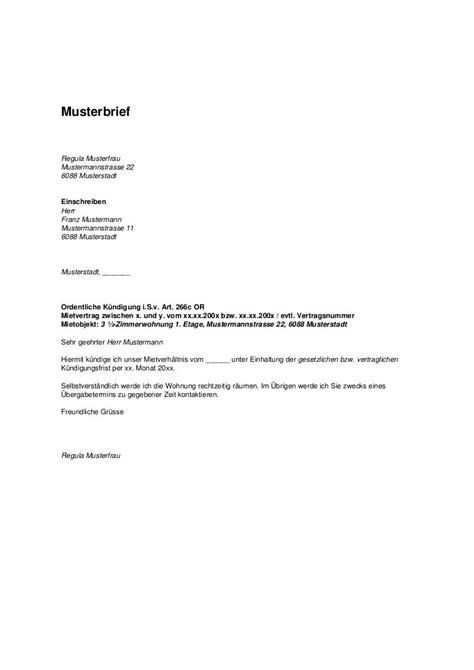 kuendigung mietvertrag musterbrief nachmieter kuendigung