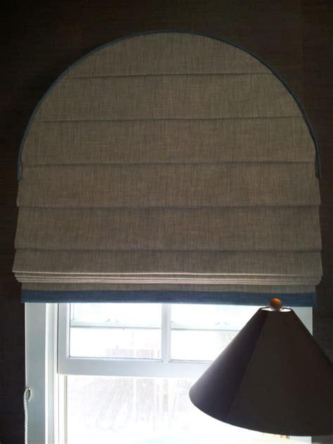 arch window shades  grasscloth wallpaper