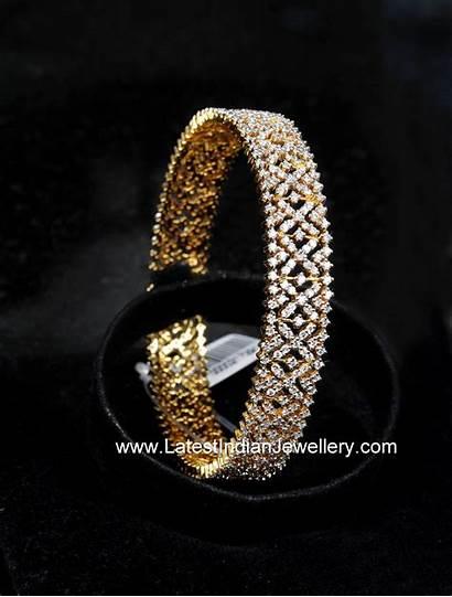 Diamond Indian Bangle Jewellery Bangles Designs Gold