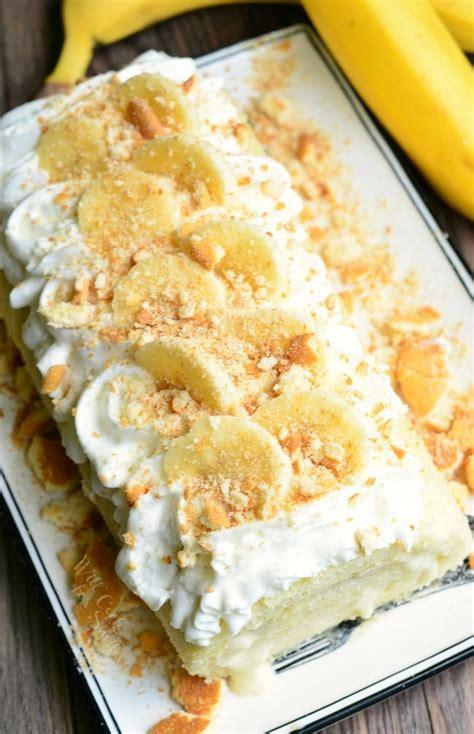 banana pudding cake roll  cook  smiles