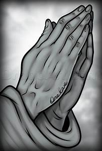 How to Draw Praying Hands Tattoo, Step by Step, Tattoos ...