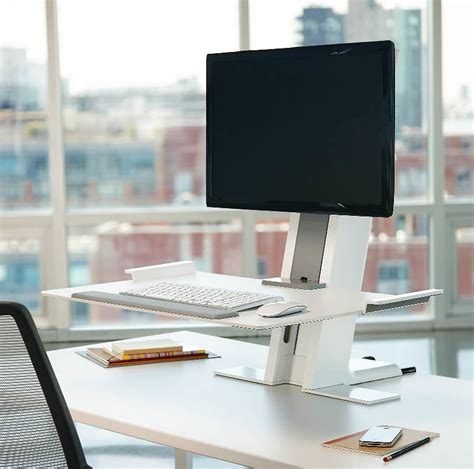 Humanscale Dual Monitor Standing Desk by Humanscale Quickstand Single Standing Desk Converter