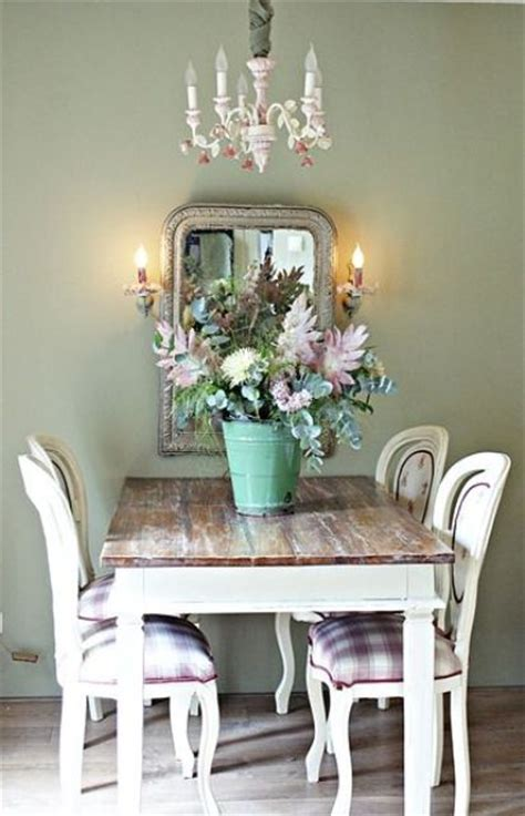 ways  create  shabby chic dining room  area