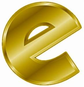 free gold letter e clipart free clipart graphics With gold letter e