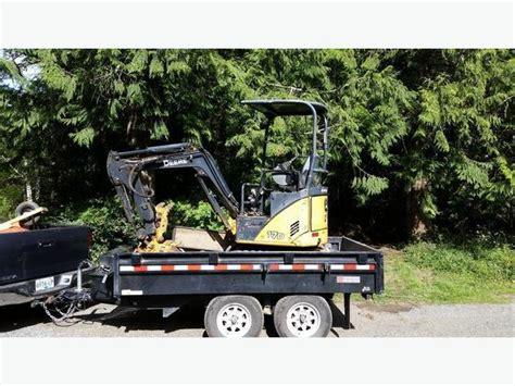 mini excavator  dump trailer  experienced operator  hire sooke victoria