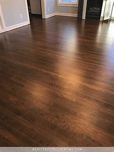my newly refinished red oak hardwood floors With my parquet