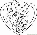 Shortcake Coloring Custard Strawberry Coloringpages101 Characters Cartoon sketch template