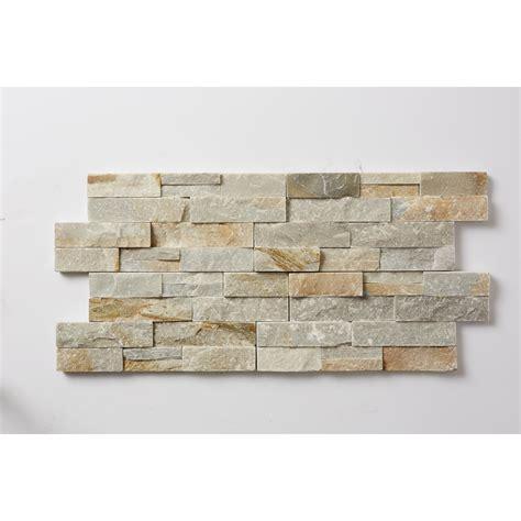 shop desert quartz ledgestone quartz wall tile common 6