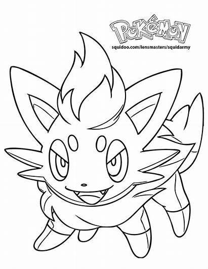 Pokemon Coloring Pages Legendary Zorua Flareon Printable