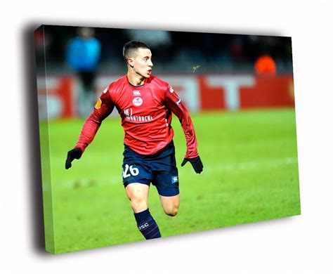 Belgian attacker eden hazard has been officially unveiled at the bernabeu after passing his real madrid medical. HD Canvas Printings Painting Eden Hazard Lille Soccer ...