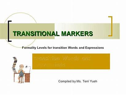 Transitional Markers Transition Words Slideshare