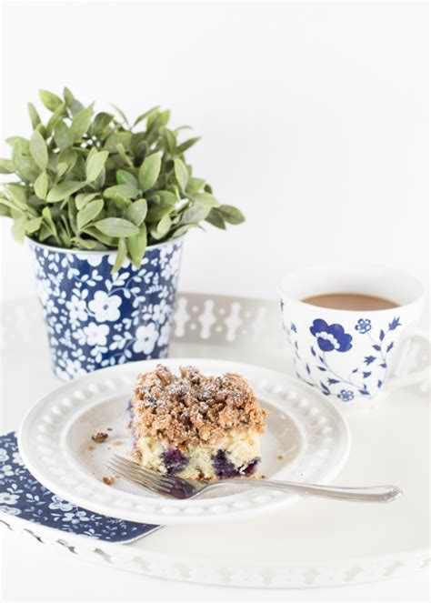 blueberry coffee cake  view  home