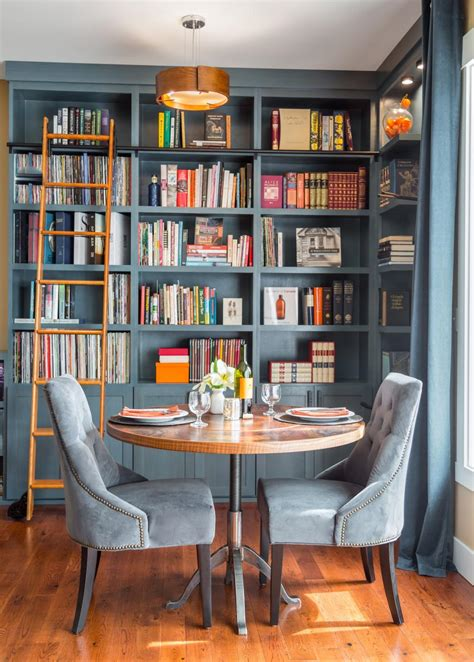 how to make a home library beautiful blue home library nook was once a disused corner harmony weihs hgtv