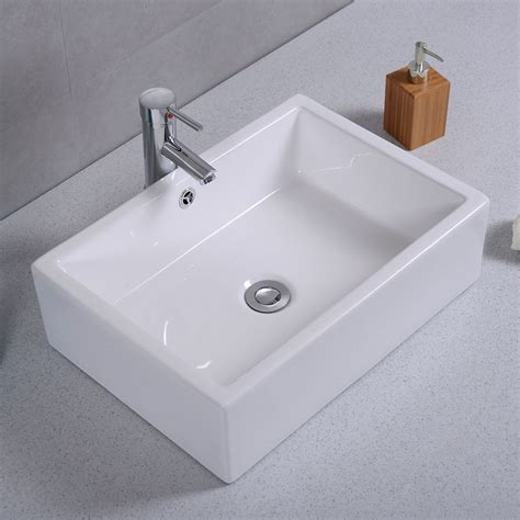 white porcelain bathroom sink 20 quot ceramic bathroom sink rectangle vessel bath deck mount