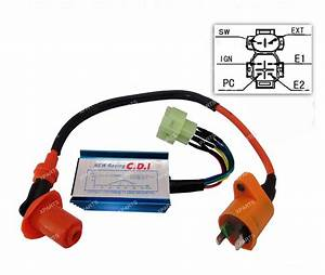 Racing Performance 6 Pins Ac Cdi Box   Ignition Coil For