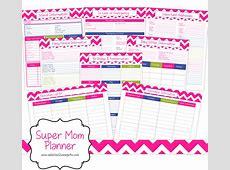 Printable Super Mom Planner A Spark of Creativity