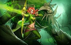 DOTA 2 Windrunner Treant Protector k5 Wallpaper HD