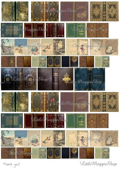 vintage magic book covers set  scale downloadable