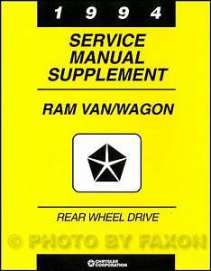 1994 Dodge Ram Van  U0026 Wagon Repair Shop Manual Original