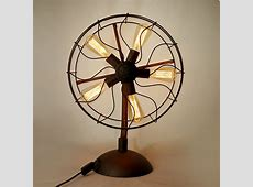 Industrial Fan Table Lamp – Macer Home Decor
