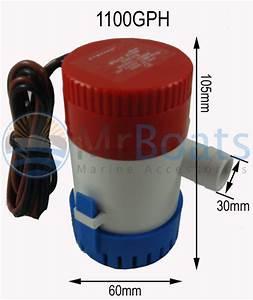 1100 Gph Boat Bilge Water Pump 12v 1 8 Outlet   Float