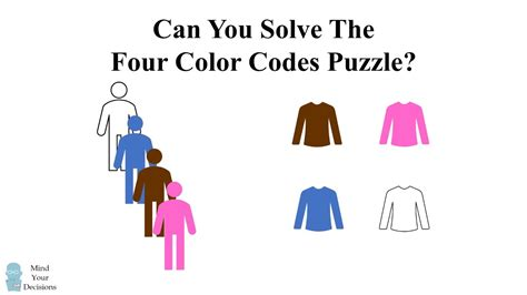 color riddles the four color codes logic riddle