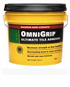 flooring tools and more tile adhesives omnigrip maximum strength adhesive 3 5 gallon