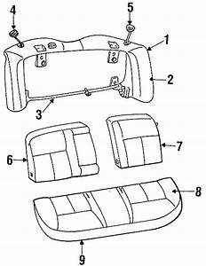 Ford Taurus Seat Back Cover  Station Wagon  Bench Seat