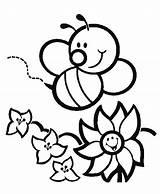 Bee Coloring Pages Animals Preschool Flower Printable Preschoolcrafts Sheets Kindergarten Crafts Spring Animal Painting sketch template