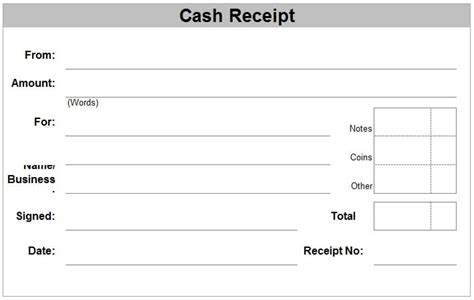 6 free receipt templates excel pdf formats