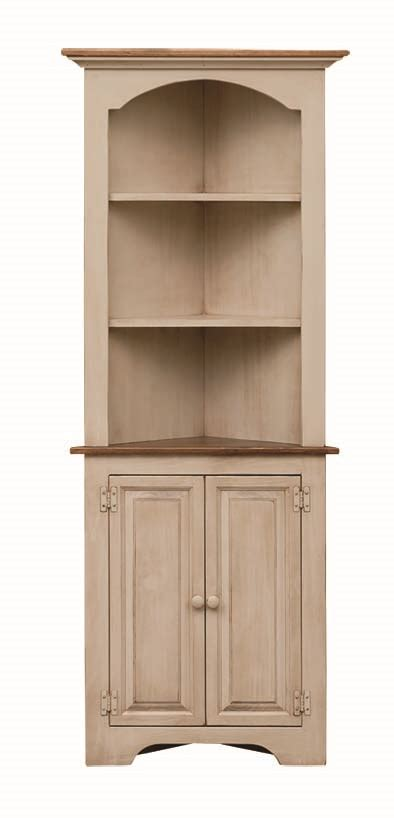 small colonial style corner cupboard amish furniture