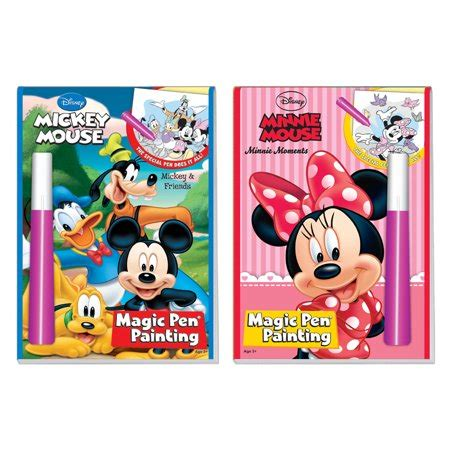 Magic With Mickey Book by Disney S Characters Magic Pen Painting Activity Books Set