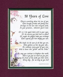 50 years of love 119 touching poem a gift for a 50th With poems for a 50th wedding anniversary