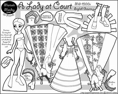 Dolls Paper Tudor Doll Printable Monday Coloring