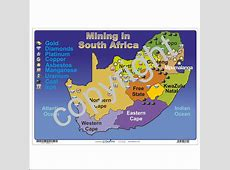 Africa Label Map South Minerals 9