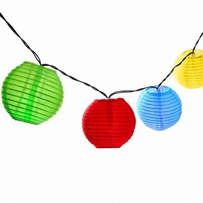 Lantern Chinese Lights String Solar Clipart Outdoor