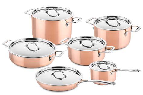 copper pots  pans set