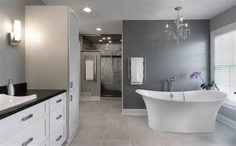 Bathroom Fixtures Columbus Ohio by Getaway In Gray Soothing Master Bath In Gray Tones