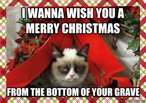 Merry Christmas Cat Meme - livememe com grumpy christmas cat