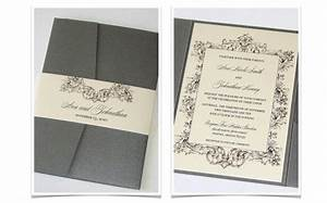 ava pocket fold vintage wedding invitation sample ivory With wedding invitations with pocket folds