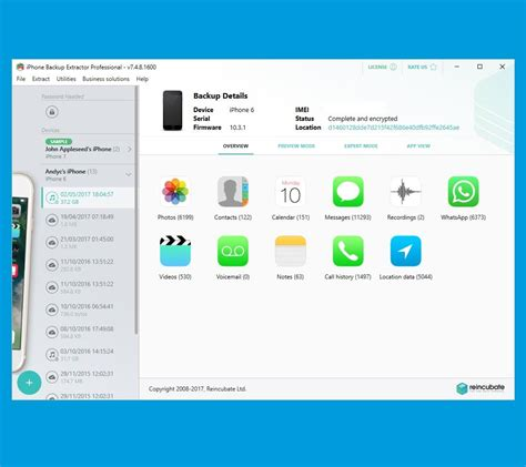 iphone backup extractor    software