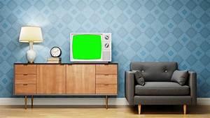 Retro Living Room Vintage Television Motion Background