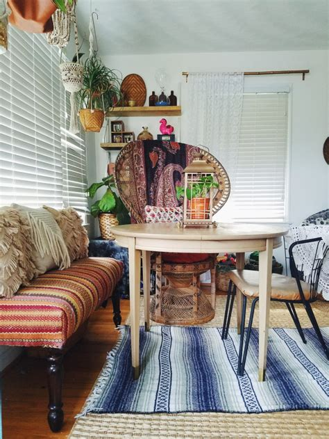 impromptu eclectic bohemian dining space  designer  home