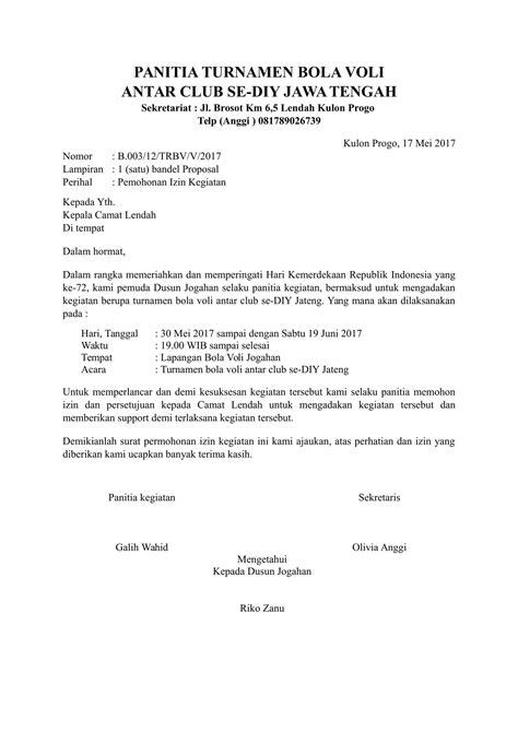 contoh surat permohonan izin kegiatan