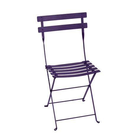 chaises pliante chaise pliante fermob bistro acier aubergine plantes et